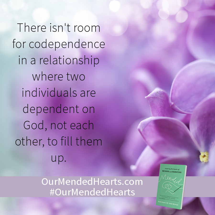 There isn't room for codependence in a relationship where two individuals are dependent on God, not each other, to fill them up.